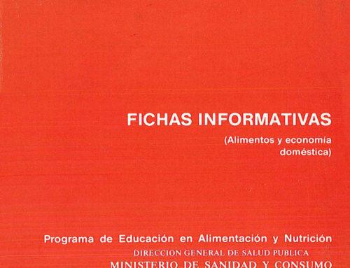 Fichas informativas (Alimentos y economía doméstica)