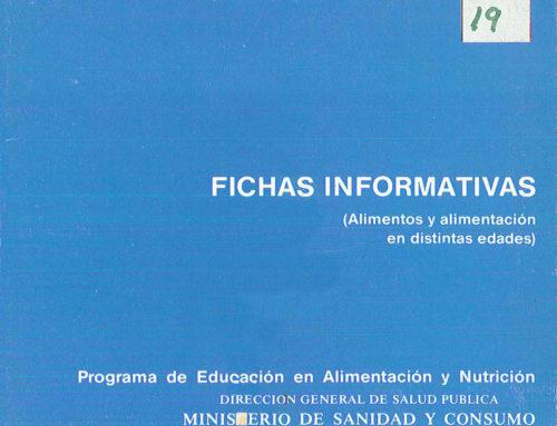 Fichas informativas (Alimentos y alimentación en distintas edades)