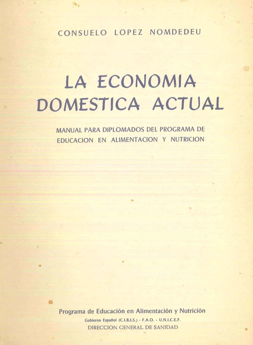 La economía doméstica actual