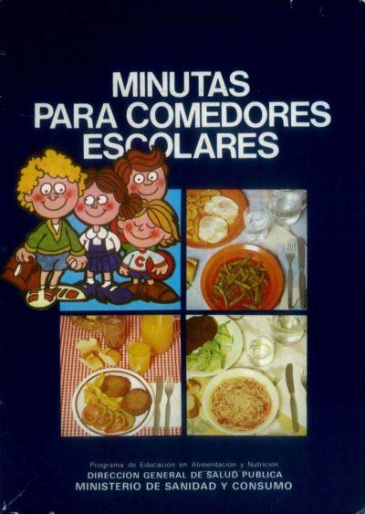 Minutas para comedores escolares